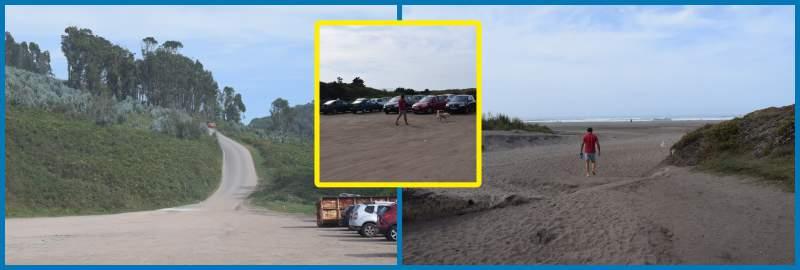 La playa de bayas dispòne de aparcamiento gratuito. Es raro que se llene.